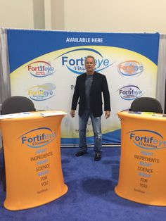 Dr Michael Lange at Fortifeye Vitamin booth at vision expo west in Vegas talking to docs from all over the world about proper supplementation  www.fortifeye.com