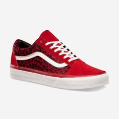vans shoes red