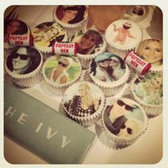 The super stylish Poppy Delevigne celebrated her hen party in London with a theme and photo cupcakes. Hen Party Food, Hen Party Cakes, Party Cupcakes, Hen Night Ideas, Hen Ideas, October Bank Holiday, Bridesmaid Duties, Bridesmaid Ideas, Hen Nights