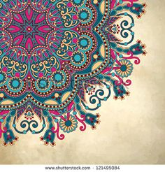 Vector Flower Circle Design On Grunge Background With Lace Ornament Royalty Free Cliparts, Vectors, And Stock Illustration. Image Circle Design On Grunge Background With Lace Ornament Royalty Free Cliparts, Vectors, And Stock Illustration. Mandala Art, Mandala Design, Mandala Drawing, Drawing Flowers, Circle Drawing, Art Flowers, Paisley Design, Abstract Flowers, Doodle Art