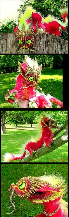 Posable Oriental Baby Dragon by Wood-Splitter-Lee.deviantart.com on @deviantART