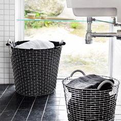 Wäschesack aus Bio-Baumwolle für Aufbewahrungskörbe verschiedener Größen
