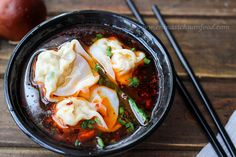 Sichuan Spicy #wonton #Soup recipe--homemade version. Love it!!!  Real #ChineseFood