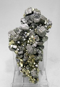 Bournonite with Pyrite / Mina Mercedes, Peru