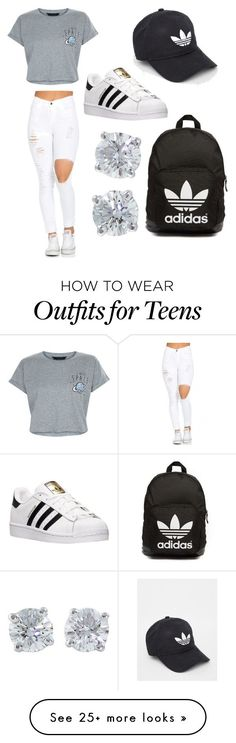 """Untitled #1"" by kaylax3214 on Polyvore featuring New Look, adidas, Tiffany & Co. and adidas Originals"
