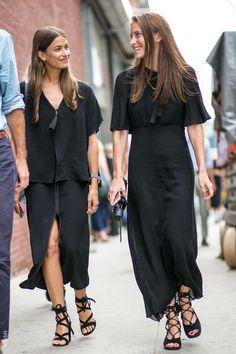 @andwhatelse \ Minimal Black Maxi Dress & Strappy Heels \ Fashion Favourites