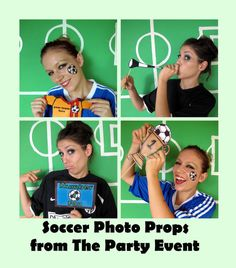soccer photo booth props personalized with your team colors