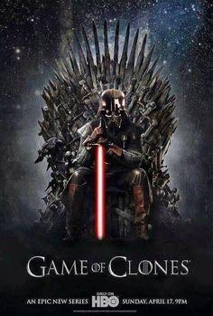 Game of Clones Star Wars Darth Vader Game of Thrones mash up