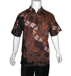 kemeja batik motif kombinasi