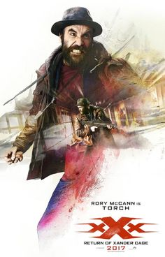 """Rory McCann as Tennyson """"The Torch"""" in the official character poster for xXx: Return of Xander Cage Streaming Movies, Hd Movies, Movies Online, Movie Tv, Hd Streaming, Vin Diesel, Tony Jaa, Neymar Jr, Return Of Xander Cage"""