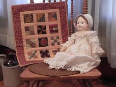 Love this mini sampler and gorgeous doll!