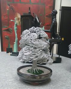 Custom made Aluminium Bonsai tree.
