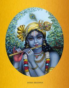 Featured Art - Krishna by Vrindavan Das Story Of Krishna, Krishna Lila, Cute Krishna, Krishna Art, Lord Krishna, Lord Shiva, Yashoda Krishna, Shree Krishna, Krishna Painting