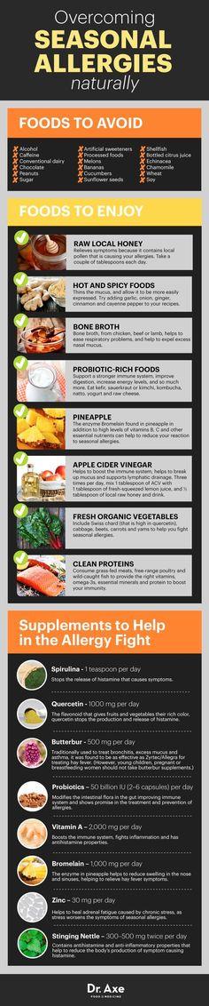 Overcoming Seasonal Allergies  http://www.draxe.com #health #holistic #natural