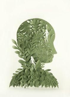 3D carved papercut