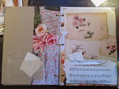 The Painted Flower: My circle of days bookart journal with flowers and notes