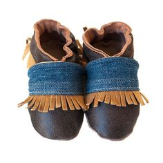 Jackson baby shoes in allnatural distressed leather by cadeandco, $34.00