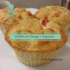 Muffin de Frango e Legumes                                                                                                                                                                                 Mais