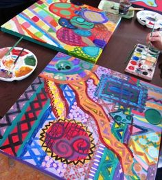 Abstract Art lesson for older kids.  Middle School age-ish maybe.
