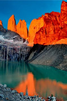 Sunset on Torres del Paine