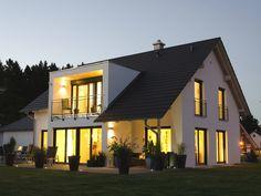 Detached house hauser of digabau gmbh Attic Master Suite, Bungalow Extensions, Gable House, Porche, Transitional House, House Windows, Architect Design, Detached House, Ideal Home