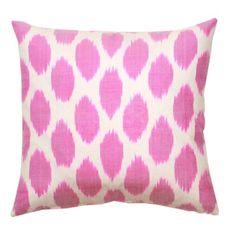Fuchsia Spotted Silk Pillow - Furbish