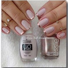 Metallic French Tip Manicure