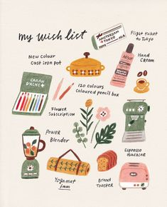 Tante S!fr@ loves this pin Hello everyone! Did you have a merry christmas? I hope you did! And now, it's the very end of It feels weird every time I let a year… Art And Illustration, Food Illustrations, Sketch Note, Flower Subscription, Buch Design, Guache, Cute Drawings, Fall Drawings, Art Inspo