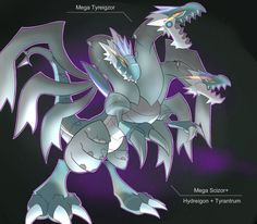 Shiny Mega Tyreigzor by Visoris on DeviantArt