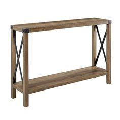 Union Rustic Jeremiah Console Table | Wayfair.co.uk Rustic Console Tables, Entry Tables, Console Table Farmhouse, Wood Entry Table, Hallway Tables, Rustic Table, Rustic Farmhouse Entryway, Modern Farmhouse, Farmhouse Style