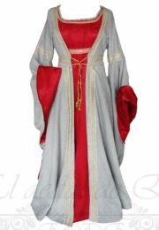 Vestido medieval 2 piezas. Ajustable en la espalda.