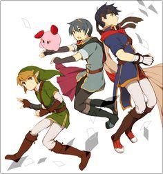Ike, Marth, Kirby and Link, Super Smash Bros. Brawl