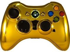 Chrome Controllers Color Gold - Modded Controllers Xbox One Custom Controllers Xbox 360 Modded Controller Custom Controller Mod Controllers playstation Rapid Fire Controllers Xbox Mod Controller Rapid Fire Controller - 1 Ps4 Mods, Xbox One Mods, Xbox 360 Repair, Xbox 360 Cheats, Xbox 360 Price, Xbox 360 For Sale, Xbox 360 Controller, Xbox Console, Gaming Tips