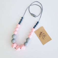 A personal favorite from my Etsy shop https://www.etsy.com/listing/491383015/silicone-teething-nursing-necklace