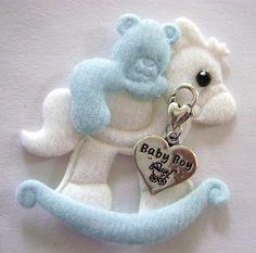 Baby Boy Charm Heart free Baby Rocking Horse Applique Card Crafts   Artsy_Effects - Craft Supplies on ArtFire