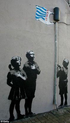 Street Art BANKSY Poster McDONALDS A3 A4 A1 Home Wall Print A2