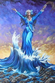 Arise, then, women of this day! Arise all women who have hearts, whether our baptism be that of water or of fears! (from the original Mother's Day Proclamation from 1870) Art -The Divine Moon: Yemanjá