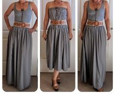Tutorial: Maxi skirt that can also be worn as a dress