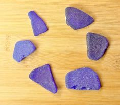 """$23.95 """"MIDNIGHT MADNESS"""" real sea glass from Jamaica - rare colors, large size, 6 pc variety mix"""
