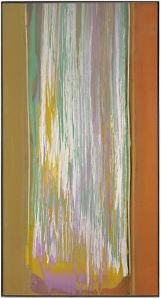 Frank Bowling, Lenora Seas, acrylic on canvas, 87 x 47 inches Abstract Artists, Figure Painting, Writing Art, Abstract Painting, Painting, Museum Of Modern Art, Map Painting, Art, Abstract