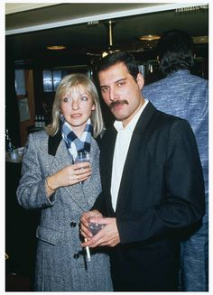 Freddie with Mary Austin at the Royal Albert Hall in november 1985