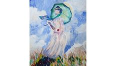 Woman with Parasol Monet Acrylic Tutorial for Beginners
