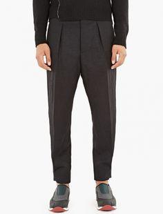 Marni,Black Loose-Fit Trousers,BLACK,0