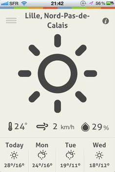 ClearWeather By David Olmos - Mobile UI / UX Design