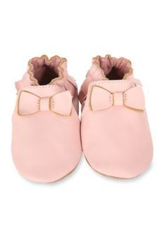Robeez Pastel Pink Maggie Moccasin Soft Sole