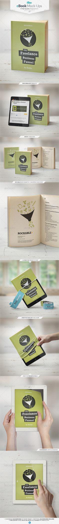 eBook Mock-Up Set #bookmockup #mockup Download: http://graphicriver.net/item/ebook-mockup-set/6578872?ref=ksioks