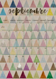 milowcostblog: calendario septiembre - imprimible y fondo