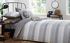 Duvet Covers from a number of the biggest brands and designers. Soft to the touch, modern and luxurious bedding covers at great discounted prices. Stripes Design, Grey Stripes, Bed Covers, Duvet Cover Sets, Striped Bedding, Quilt Sets, Guest Bedrooms, Luxury Bedding, Slate