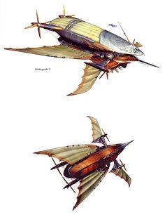 Steampunk Ship, Steampunk Artwork, Fantasy Art Landscapes, Fantasy Landscape, Concept Ships, Concept Art, Chibi Games, Flying Ship, Final Fantasy Ix