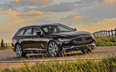 Scarica sfondi 4k, Volvo V90, T6, 2018 automobili, carri, marrone V90, Volvo